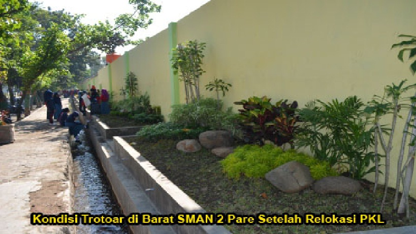 Featured Image of Cegah PKL Kembali Mangkal, Smada Pare Gelar Lomba Taman Antar Kelas